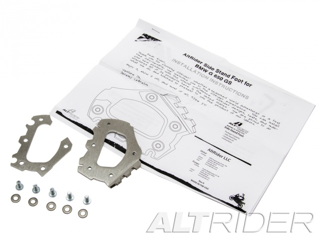 AltRider Side Stand Foot for the BMW G 650 GS - Product Contents