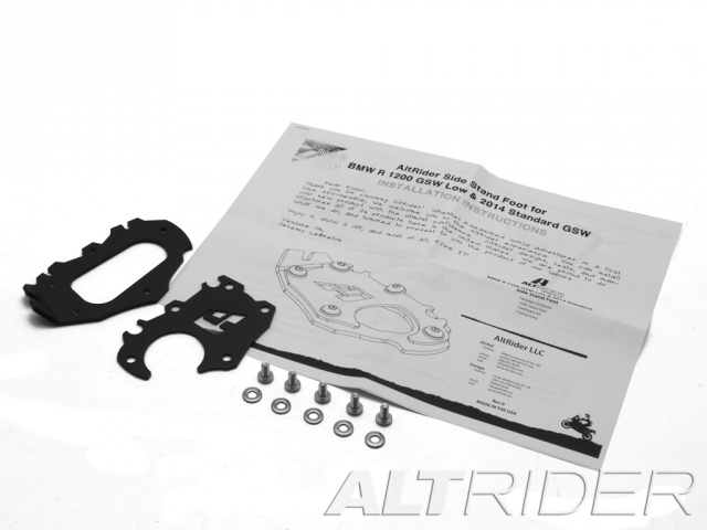 AltRider Side Stand Foot for the BMW R 1200 & R 1250 GS /GSA Lowered - Product Contents