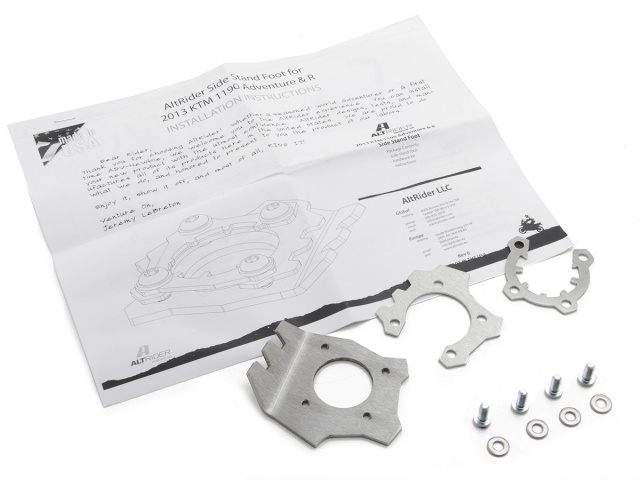 AltRider Side Stand Foot for the KTM 1190 Adventure / R (2013) - Silver - Product Contents