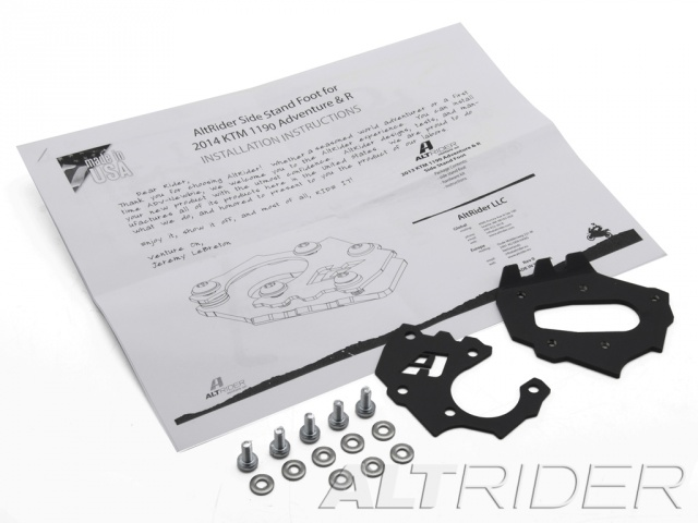 AltRider Side Stand Foot for the KTM 1290 Super Adventure - Black - Product Contents
