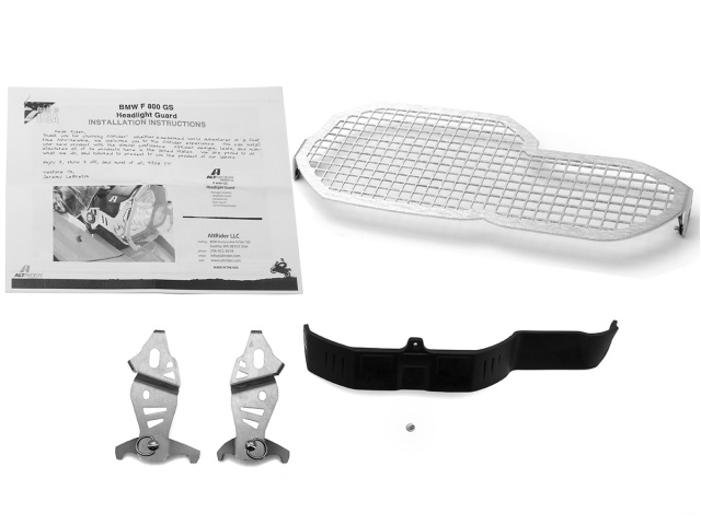 AltRider Stainless Steel Headlight Guard Kit for the BMW F 800 GS /A - Product Contents