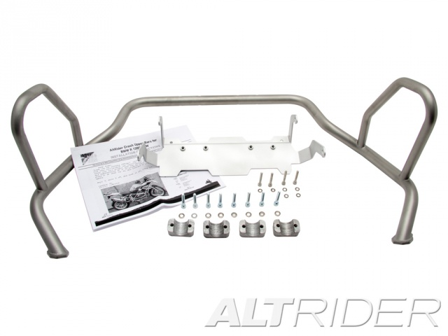 AltRider Upper Crash Bars for the BMW R 1250 GS - Triple Black (Grey) - Product Contents