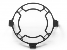 AltRider Clear Headlight Guard for the Ducati Scrambler - Black - Feature