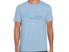 AltRider Retro Mountains Men's T-Shirt (Baby Blue) - Feature