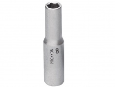 Proxxon 1/4 Inch Deep Socket - 8mm x 50mm - Feature