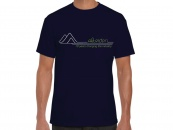 AltRider Retro Mountains Men's T-Shirt (Navy) - Feature